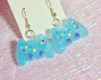 Glitter Controller Earrings