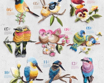 bird patch for jacket, Bird Patch Iron on Patch Sew On Patches cute patch