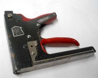 vintage craftsman crown heavy duty industrial manual staple gun hand power tool tacker metal stapler parts