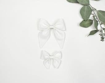Sailor Bow, White Sailor Bow, Large Sailor Bow, Small Sailor Bow, Sailor Bow Headband, Sailor Bow Hair Clip