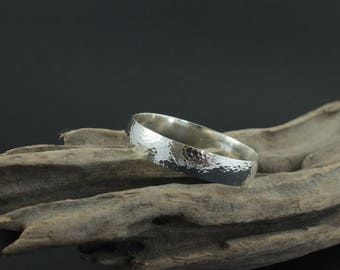 Bangle - Stunning Hammered 1.5 cm wide Sterling Silver Bangle, Made to Order