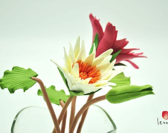 Water Lily Centre Table piece | Handcrafted with Deco Clay