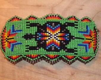 Native American Beaded Hair Barrette  Beaded Barrette Beaded Hair Clip