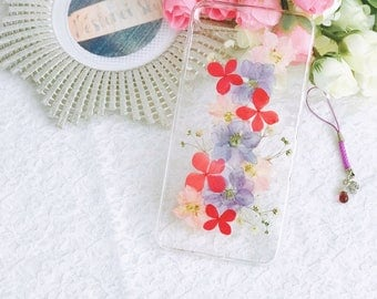 Handmade pressed flowers Silicone soft case for iphone 8plus iphone 7plus case cover colorful style new