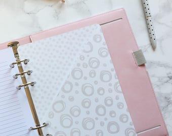Grey Doodle Pocket Folder | Planner Pocket | Pocket Divider | Pocket Dashboard - A5