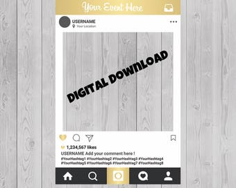 Instagram Frame Prop, Instagram Frame, Instagram Prop, Photo Booth Frame, Instagram Photo Prop, Instagram Cutout, Social Media Frame