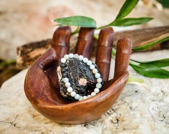 Amazonite/Lava Matt Essential Oil Collection Natural Gemstone 8mm Bracelet