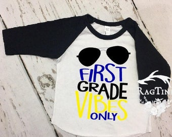 Back to School - First grade vibes - First Day Fist Grade- Boy Shirt - Kinder shirt - Kinder boy shirt - First Day of School Memory Shirt