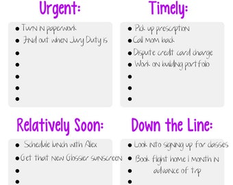 Organized Priority To Do List (PRINTABLE - INSTANT DOWNLOAD): Weekly Planner • Organization • ToDo List • To-Do List • Self Care