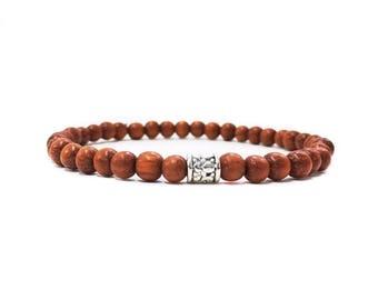 Mens Wood Bracelet Bayong Wood Bracelet Gift for him Mens Bead Bracelet Trendy Bracelet Mens Jewelry Stretch Bracelet Mens Gift Boyfriend