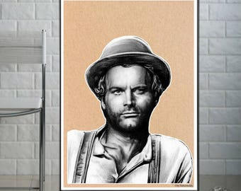 Terence Hill - Fine Art Print - A4/A3