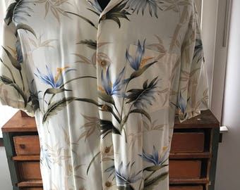 Vintage 1980's Authentic Hawaiian Shirt Made in Honolulu