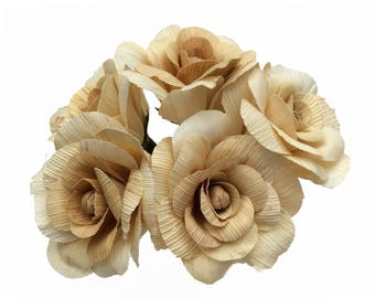 Corn Husk Flowers 5 pcs. for Weddings and Home Decorations. DIY. Roses from corn husk  Eco friendly Products