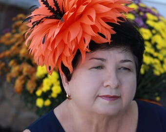 "Feather Hat""My dear Pumpkin""-Fascinator"
