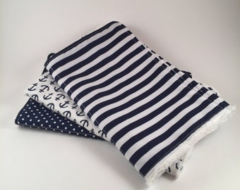 Chenille Burp Cloth Set