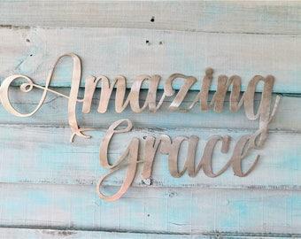 Amazing Grace Sign, Amazing Grace, Amazing Grace Sign, Farmhouse Decor, Amazing Grace How Sweet The Sound Sign, Amazing Grace Wall Art, Sign