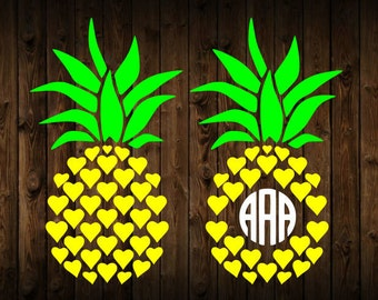 Pineapple monogram svg, pineapple svg, monogram svg, svg, dxf, cricut, silhouette cutting file, instant download, svg files