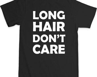 Long Hair Don't Care Toddler 100% Cotton Short Sleeve Crew Neck T-Shirt