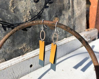 2 Small Rectangles Earrings