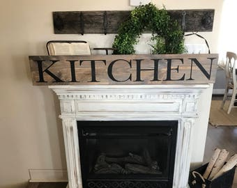 Kitchen sign farmhouse country distressed rustic long large 4 ft wall decor
