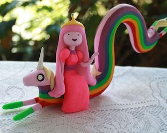 Princess Bubblegum and Lady Rainicorn from Adventure Time  Personalised Handmade Fully customizable Made to order Lady Rainicorn