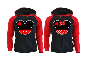 Mickey Minnie Couple Hoodies, Couple Sweatshirt, Pärchen Pullover Couple Hoodies Mickey, Couple Hoodies King And Queen Couple Sweaters