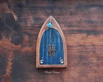 Booklover Fairy Door, Handmade Fairy Door, Solid Wood Miniature Door, Unique Gift, Wall decor, Shelf decor