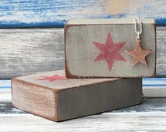Shine On - hammered copper star pendant