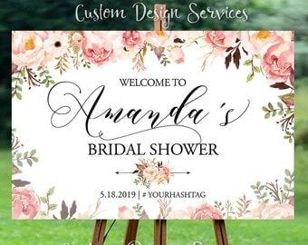 Bridal Shower sign, Bridal Shower Welcome Sign, Bridal Shower decoration, PRINTABLE Welcome sign, Bridal shower welcome sign - US_BS0106b