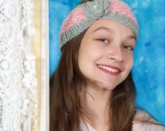Valentine's gift, Crochet headband, Knit baby headband, Knit ear warmer, Baby girl accessory, Baby gift, Gift for her, Crochet head wrap