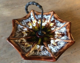 Midcentury Ceramic Umbrella Bits and Bobs or Bonbon Dish