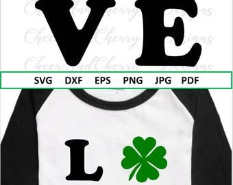 St Patricks day svg Love Svg Shamrock svg Lucky Svg for St Patricks Svg St Patty's svg Clover Svg Silhouette Dxf Eps Cricut cutting file