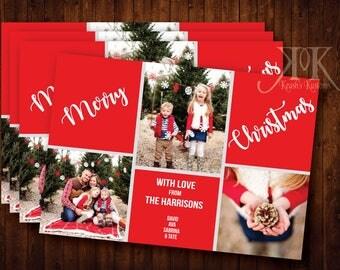 Multi-Photo Christmas Card, Family Holiday Card,