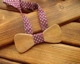 Wood bow tie Christmas bow tie Holiday bow tie Christmas men gift Wedding tie Groomsmen tie Boss gift Boyfriend gift Wooden anniversary gift