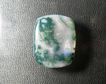 Top Quality Natural Moss Agate cabochon gemstone, Moss agate gemstone, Very Smooth moss agate loose gemstone for Pedant 18 Cts. R-5180