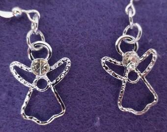 Cute little angels dangle earrings