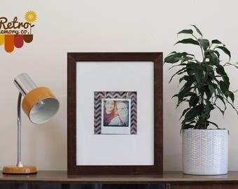 Personalised wooden retro Polaroid print frame