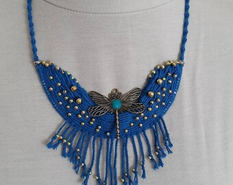 DRAGONFLY in NECKLACE macrame