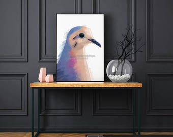 Pigeon Print, Bird Print, Bird Art, Bedroom Wall Art, Bird Painting, Bird Watercolor, Nursery Wall Art, Living Room Wall Art, Kids Room Art