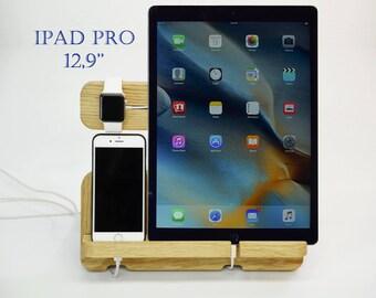 Charging Station 12.9-inch iPad Pro. Apple Watch Docking Station, Apple Watch Dock, Apple Watch Station, Apple Watch Charger, iPhone 7 Dock