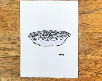 Pie Ink Drawing