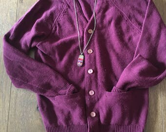 Montgomery Ward Cardigan Sweater pullover button up Men's Small Women's small Women's medium slouchy sweater baggy sweater