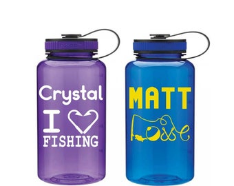 Custom Fishing Tumbler - Fishing Water Bottle - Personalized Fishing Gifts - Boating Gear - Fishing Gifts for Him - Fishing Cup for Boat