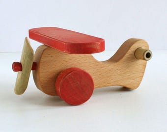 Airplane locally harvested bamboo with eco-friendly oil finish