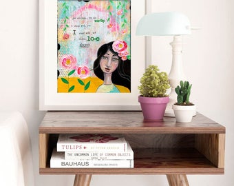 CHOOSE LOVE | Art Print | Wall Art | Matted Print | Flower Art | Fine Art Print | Inspiring Art | Home Decor | Boho Art
