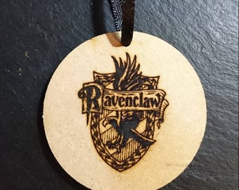 Harry Potter Hogwarts Ravenclaw House Sigil Logo Tag Token Decoration MDF Wood Wizard Birthday Gift