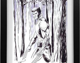 Logan ink drawing