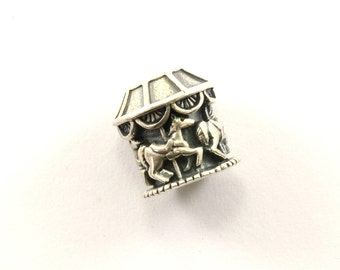 Vintage Carousel Roundabout Bead Charm Sterling 925 CH 342