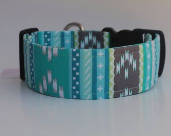 Blue Aztec Dog Collar