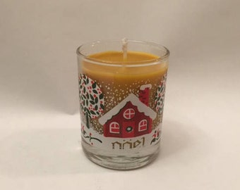 Mulled Cider Up-Cycled Votive Handmade Candle